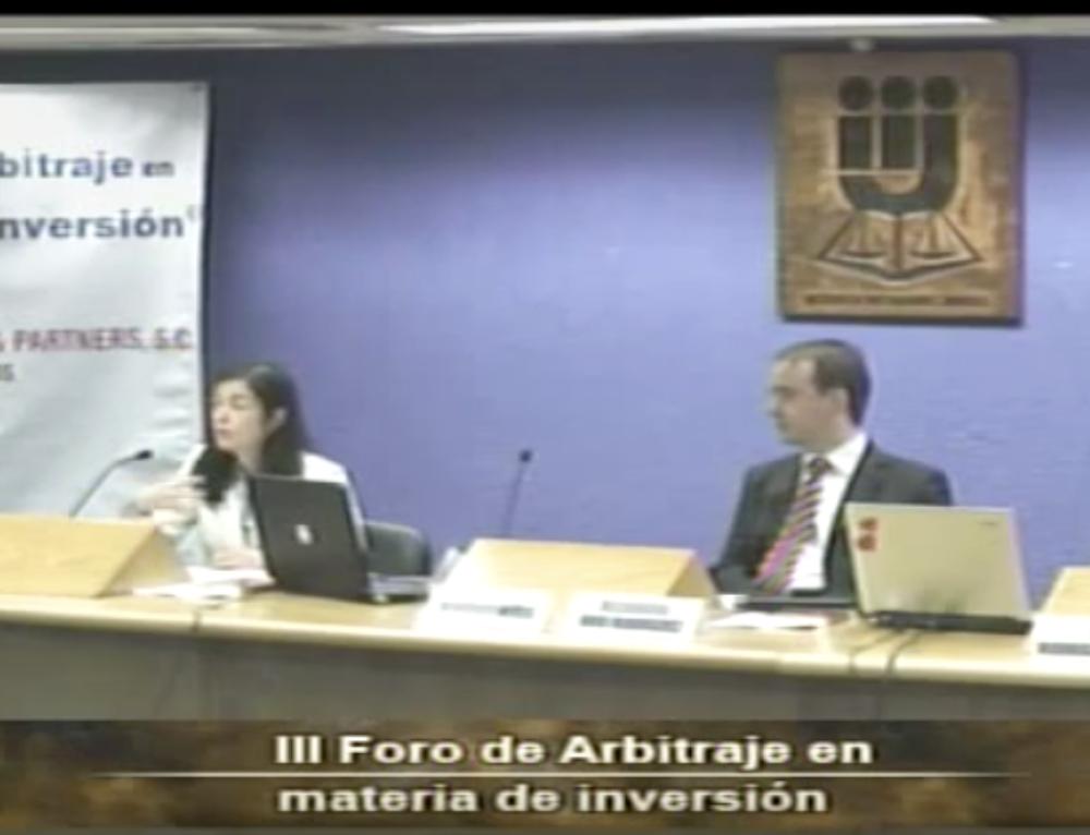 III FORO DE ARBITRAJE EN MATERIA DE INVERSIÓN