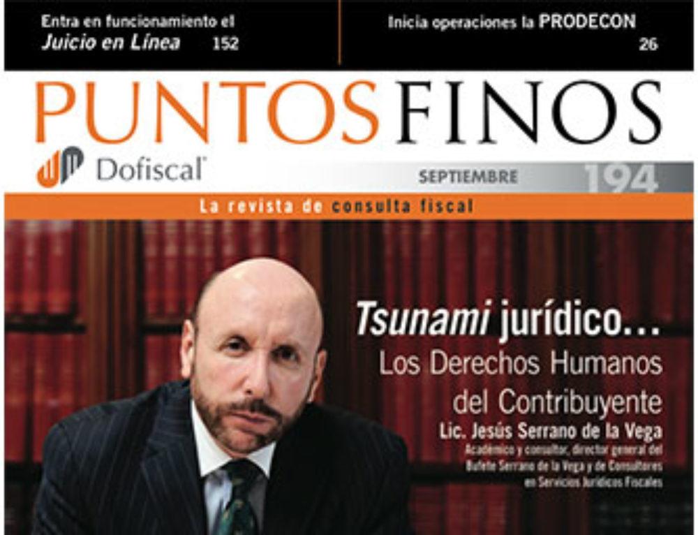 PUNTOS FINOS SEPTIEMBRE 2011